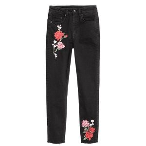 NWT H&M Divided Embroidered Jeans